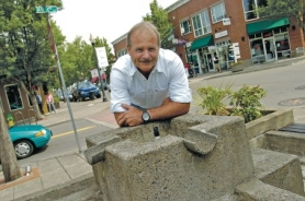 by: Carole Archer, Landscape architect Greg DeHaven is raising money to renovate downtown Gresham's fountain on Third Street and Main Avenue.