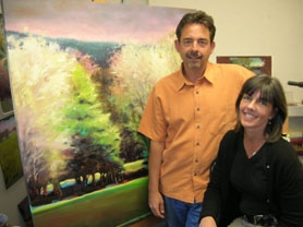 by: Cliff Newell, Area artists Mike and Marla Baggetta will show their paintings together at this week's Lake Oswego Festival of the Arts. For a complete guide to the festival, see the special section included in last week's Lake Oswego Review.