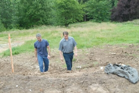 by: Vern Uyetake, Rivergrove landowner Lance Coffel, left, partnered with Carl Redman of Innovation Construction, Inc., to turn the former Rivers Edge Athletic Club into homes. The project turned out to be a case study in sewer policies in Rivergrove.