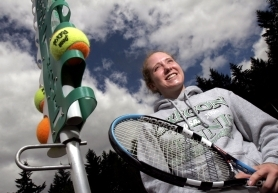 by: Jaime Valdez, TWO-TIME CHAMPION — Sunset's Laura Neal leaves high school a two-time state singles champion in Class 4A tennis, and as one of two Beaverton Valley Times Female Athletes of the Year for 2005-06.