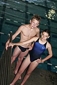 by: MILES VANCE, DIVING DUO – Tualatin Hills Dive Club's Kevin Olson (left) and Cassie Weil will lead their team into competition at the Summer West Nationals on July 6.