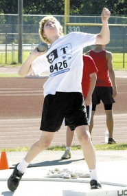 by: Bill Wilson, Gresham's Ryan Crouser won the shot put and the javelin competition at the Junior Olympic state meet last weekend in Salem.
