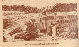 by: Submitted photo, A drawing of the mill, as shown in a rare booklet about the history of Oregon City and West Linn, copyrighted in 1941 by Crown Zellerbach Corporation.