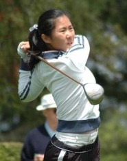 by: Eric Yaillen/OGA, West Linn's Sharon Shin is having an excellent summer season. She qualified for the U.S. junior girls championship for a second time and will be in the World Juniors as well.
