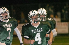 by: Dan Brood, Gunnar Cederberg shined bright on the football field, basketball court and baseball diamond at Tigard.