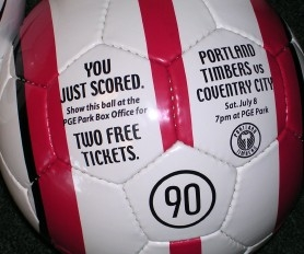 by: Special to, The Timbers plan to hide 50 Nike soccer balls throughout Portland in advance of the team's Saturday match against England's Coventry. Each ball is good for two free tickets to the game.