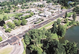 by: Special to, This new, improved stretch of McLoughlin Boulevard in Milwaukie boasts new signals, patterned crosswalks and river access.