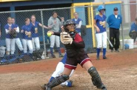 by: DAN BROOD, STATE'S BEST – Tualatin's Lauren Grill, shown here in a Class 4A state playoff game at Barlow this past spring, was named the Class 4A softball Player of the Year.