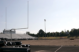 by: MILES VANCE, UNDER WAY — The Westview High School stadium field is undergoing a transformation from grass to artificial turf that is scheduled for completion before the start of the coming fall sports season.