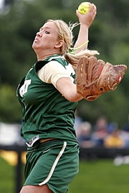 by: MILES VANCE, 4A'S BEST — Jesuit sophomore Paige Hall racked up a 27-2 pitching record to earn Class 4A Pitcher of the Year honors for 2006.