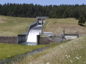 by: Courtesy Photo, A summetime water release project from the Hagg Lake spillway to the Tualatin River began July 1.