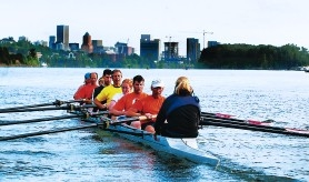 by: JIM CLARK, Members of the Willamette Rowing Club go out for a practice session on the Willamette, a river that has improved much since 1937 but still needs more attention – especially when it comes to an average of 50 sewage overflows a year and documented high levels of mercury and PCBs.
