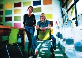by: JIM CLARK, Virginia Young (left) and Janie Lowe met a dozen years ago in New York City and now own Yolo Colorhouse, a Southeast Portland business that sells Earth-friendly paint.