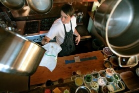 by: , Le Pigeon chef Gabriel Rucker makes the former Colleen's Bistro kitchen his new domain, and the confidence shows.