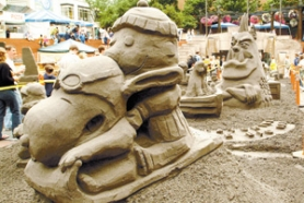 by: Special to, Last summer's Yoshida's Sand in the City brought Snoopy, a walrus and plenty of gawkers to Pioneer Courthouse Square.