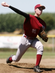 by: photo by Tommy Whitcomb, Forest Grove's Nathan Tasa pitched well against St. Helens on Sunday, but seven unearned runs doomed the team to a 9-5 loss.