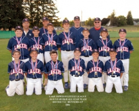 by: , Members of the Lake Oswego 10-and-11 year-old all-star baseball team pose for a photo after taking second place at the District 4 Little League tournament last weekend. Lake Oswego breezed through its first five games of the tourney. But the Lakers ran into a powerhouse Murrayhill team in the championship game. Murrayhill won that contest 9-2.