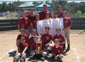 by: submitted photo, COUNTY CHAMPS — Heavy Metals claimed the championship at the Clackamas County Junior Baseball Midgets Federal Tournament held at North Marion.