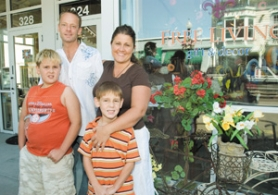 by: John Klicker, High school sweethearts Mark and Ella Nimz say their sons, Cole, 9, and Seth, 6, are thrilled about their new business venture.
