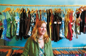 "by: JIM CLARK, Pam Levenson opened her custom-swimsuit shop, Poppi Swim, on Northeast 42nd Avenue in March. The area, she says, is ""prime for redeveloping."""