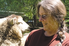 by: Barbara Adams, Lynne Deshler connects with her Shetland sheep and other farm animals at Cedar Haven Farm.