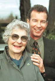 by: File photo, Betty Thompson and her son Larry in 2000. Mother and son kept the farm and business going after Betty's husband Victor died in 1983.
