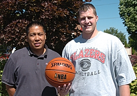 by: DAN BROOD, PARTNERS IN HOOPS – Richard Caoile (left) and David Brautigam organized the upcoming 3-on3 tournament.