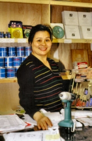by: Rita A. Leonard, Alice Lim, owner of Quality Home Building Supplies, located near Brooklyn , explains that the new store serves the needs of home builders, remodelers, and contractors.
