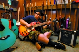 by: L.E. Baskow, Winner Bell helps campers write songs that make the whole world sing. Hear some of them Saturday at the Rock 'n' Roll Camp for Girls summer showcase, 6 p.m. at the Bagdad Theater. See www.girlsrockcamp.org for information.