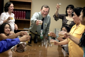 by: Jonathan House, Immigration attorney Tilman Hasche toasts a decision Friday by the Department of Homeland Security to stay the deportation of Irma, Luis Jr. and Monica Diaz until Sept. 10, giving Congress more time to consider a private bill that would allow the family to remain together.