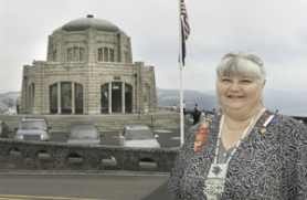 by: John Klicker, Teresa Kasner was the first executive director of the Friends of Vista House. The Daughters of the American Revolution recognized the longtime volunteer recently.