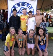 by: Submitted photo, Eight members of the Lake Oswego Swim Club pose for a group photo after they helped an Oregon all-star team place third in the Western Zones Swim Championships in California last weekend. The LOSC team members included Daniel Chen, back left, Alex Lyons, Nick Bode, Brian Cha, Karen Turner, front left, Cassidy Robison, Amy Wiley and Sherry Zhang.