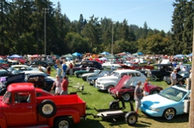 by: Courtesy of Bill Warner, George Rogers Park in Lake Oswego filled up with vintage vehicles and curious onlookers Sunday during the Oswego Heritage Council Collector Car Show.