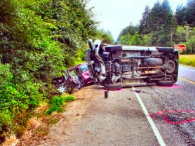 "by: Oregon State Police, The fatal ""crossover"" collision resulted in the death of Rebecca Howe; the driver of the pickup who caused the crash has now been arrested on Manslaughter and DUII charges."