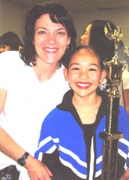 by: Carla Webber, WINNING TEAM — Creslynn Morris (left) choreographed the dance that helped Daria Lamberson win the top title at the recent International Dance Challenge National Championships in Las Vegas.