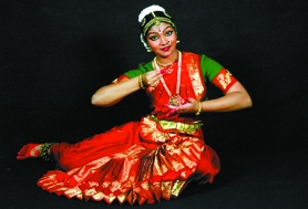 by: Submitted photo, Sunset High School junior Neela Ramanujam is ready to perform the Bharatanatya Arangetram, an elaborate classical Indian dance, on Saturday at Portland Community College's Sylvania Campus. Here she is wearing one of her four costumes.