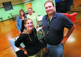 by: Jonathan House, READY TO BEGIN — The Beaverton Police Activities League's leadership team of Jocelyn Taylor, Emily Krehlik, Maura Cioeta and Sean Belveal (from left) are eager for the return of youth to the Beaverton Resource Center's PAL Clubhouse.