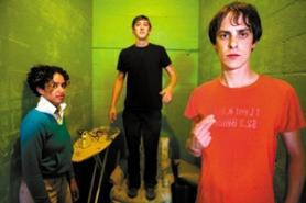 by: ©2006 TOM OLIVER, On their new album, the Thermals (from left: Kathy Foster, Lorin Coleman and Hutch Harris) give a punk soundtrack to their image of the U.S. taken over by religious fundamentalists.