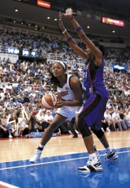 by: RON HOSKINS, Westview High grad Kara Braxton won the WNBA championship with the Detroit Shock. The backup center averaged 5.8 points and 2.6 rebounds against Sacramento in the finals.