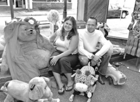 by: Carole Archer, Reynolds High School sweethearts Ella and Mark Nimz are the owners of Tree House toys which replaces Toy Bear. The couple want the store to have a more interactive feel encouraging children to play.