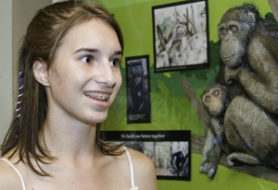 by: Shanda Tice, Keri Kestermont, 17, an active member of ZooTeens, talks about her experience working to help create a new primate display at the Oregon Zoo.