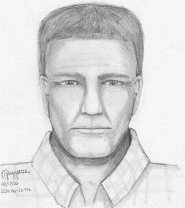 by: , Based on hit-and-run victim Kimberli Lyons' description, a sketch artist drew this composite  of the suspect.