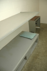 by: patrick sherman, One of 84 beds that stands empty in the Clackamas County Jail, while a dozen inmates a day are released for want of the space to hold them.