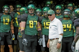 by: JONATHAN FERREY, Oregon quarterback Dennis Dixon is making a connection with his receivers, particularly big wideout Jaison Williams and tight end Dante Rosario.