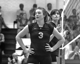 by: Chris Krieger, Emma Johnson of Sandy catches her breath in a recent match vs. St. Mary's Academy