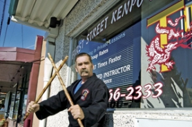 by: Carole Archer, Tim Spellman, the new owner of First Street Kenpo Karate on First Street in downtown Gresham, says Kenpo helps children and adults with weight control, teaches street defense and helps build self-confidence and fulfillment.