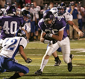 by: MILES VANCE, TIM TIME — Sunset senior tailback Tim Molloy has banged his way to 342 yards and five touchdowns on 57 carries thus far in the 2006 season.