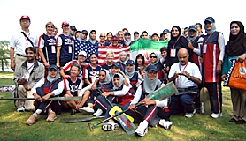 by: submitted photo, PADDLERS – Members of the Wasabi Paddling Club pose with the Iranian team at the Dragon Boat Racing World Champion-ships.