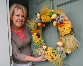 by: VERN UYETAKE, Margie Watt of West Linn spends time each week working on festive wreaths. And while she enjoys creating seasonal wreaths, she says there are more than four seasons per year.