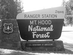 by: Shannon Proulx, The Zigzag Ranger Station bears the unusual name of the town.